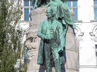 The Preseren Monument in Ljubljana